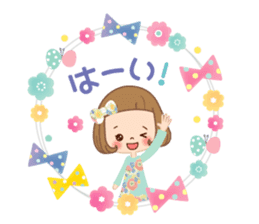 Natural sticker of the girl sticker #9830604