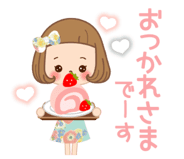Natural sticker of the girl sticker #9830610