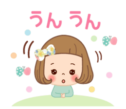 Natural sticker of the girl sticker #9830617