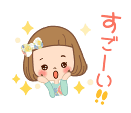 Natural sticker of the girl sticker #9830620