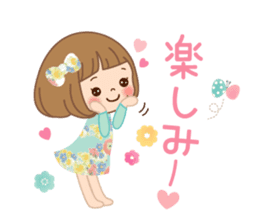 Natural sticker of the girl sticker #9830621
