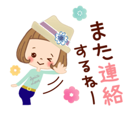 Natural sticker of the girl sticker #9830625