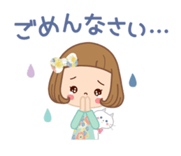 Natural sticker of the girl sticker #9830629