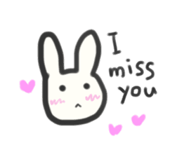 Bunny in love ! -ENGver- sticker #9834320