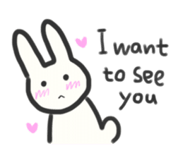 Bunny in love ! -ENGver- sticker #9834322
