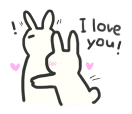 Bunny in love ! -ENGver- sticker #9834324