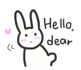 Bunny in love ! -ENGver- sticker #9834325