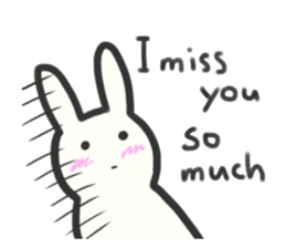 Bunny in love ! -ENGver- sticker #9834330