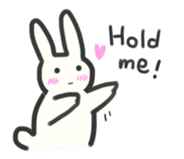 Bunny in love ! -ENGver- sticker #9834333
