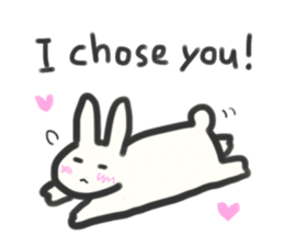 Bunny in love ! -ENGver- sticker #9834334