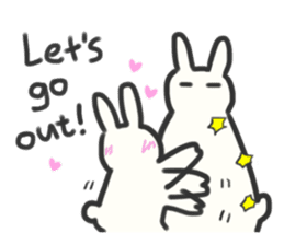 Bunny in love ! -ENGver- sticker #9834337
