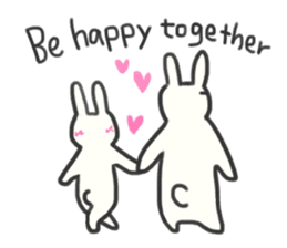 Bunny in love ! -ENGver- sticker #9834353