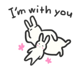 Bunny in love ! -ENGver- sticker #9834359