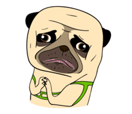 Mao Whatta Pug sticker #9840618