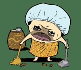 Mao Whatta Pug sticker #9840624