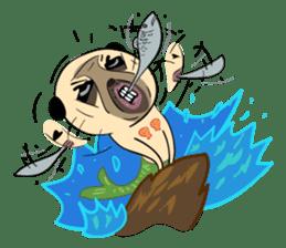 Mao Whatta Pug sticker #9840627