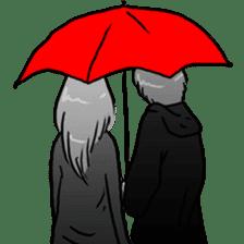 Manga couple in love sticker #9853641