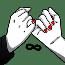Manga couple in love sticker #9853647