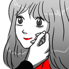 Manga couple in love sticker #9853655