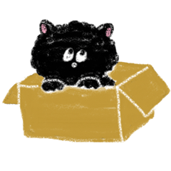 fluffy-blackkitty -crayon version-