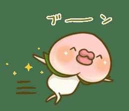 Feeling of peach 4 sticker #9861747