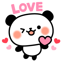 Panda attentive -Lovey-dovey feelings-