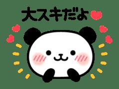 Panda attentive -Lovey-dovey feelings- sticker #9867381
