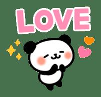 Panda attentive -Lovey-dovey feelings- sticker #9867382