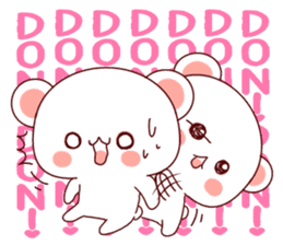 Fluffy Bear Shout the love! sticker #9873548