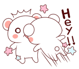 Fluffy Bear Shout the love! sticker #9873560