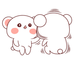 Fluffy Bear Shout the love! sticker #9873565