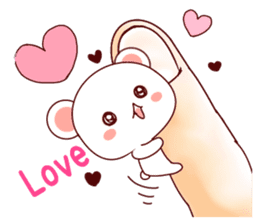 Fluffy Bear Shout the love! sticker #9873571