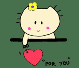 Dinkyneko & Friends #3 _Love & Valentine sticker #9877956