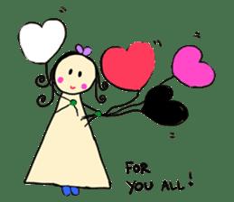 Dinkyneko & Friends #3 _Love & Valentine sticker #9877957