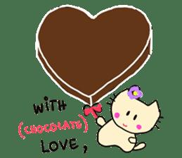 Dinkyneko & Friends #3 _Love & Valentine sticker #9877963