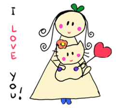 Dinkyneko & Friends #3 _Love & Valentine sticker #9877967