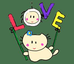 Dinkyneko & Friends #3 _Love & Valentine sticker #9877984