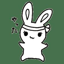 Bunny graffiti sticker #9887161