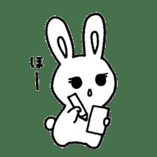 Bunny graffiti sticker #9887163