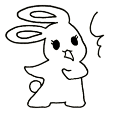 Bunny graffiti sticker #9887166