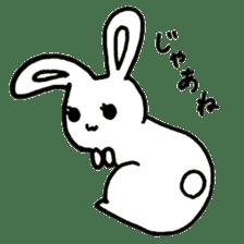 Bunny graffiti sticker #9887171