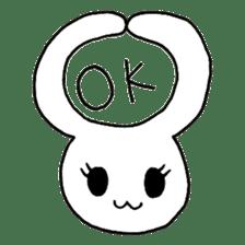 Bunny graffiti sticker #9887172