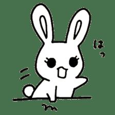 Bunny graffiti sticker #9887174
