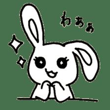 Bunny graffiti sticker #9887175