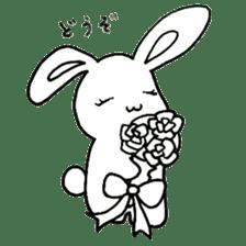 Bunny graffiti sticker #9887176