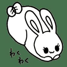 Bunny graffiti sticker #9887180