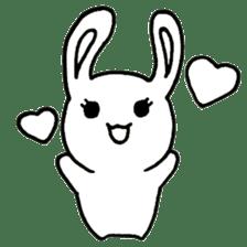 Bunny graffiti sticker #9887182