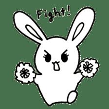Bunny graffiti sticker #9887185