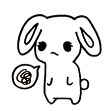 Bunny graffiti sticker #9887190