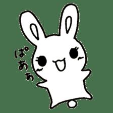 Bunny graffiti sticker #9887192
